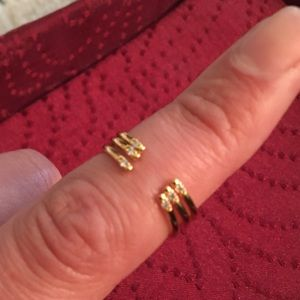 Gold plated bands - set of 3